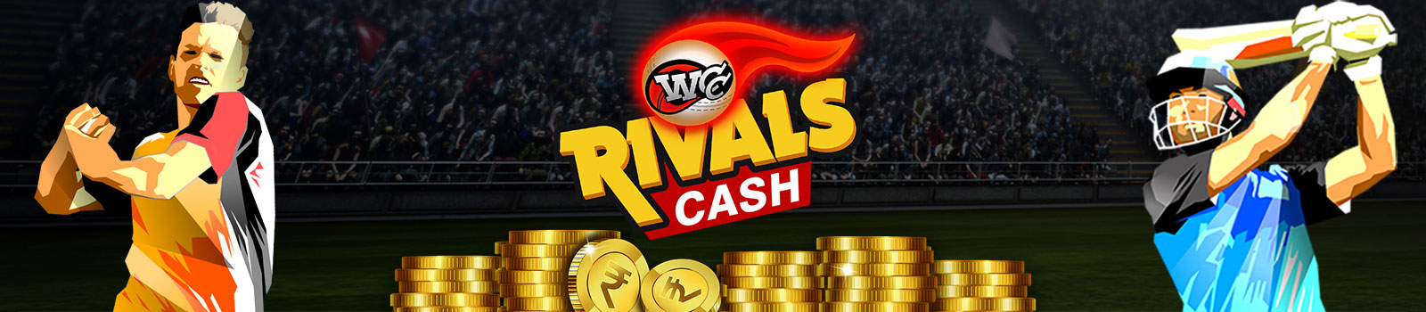 WCC Rivals Cash Tournaments - win real money through mobile cricket gaming!