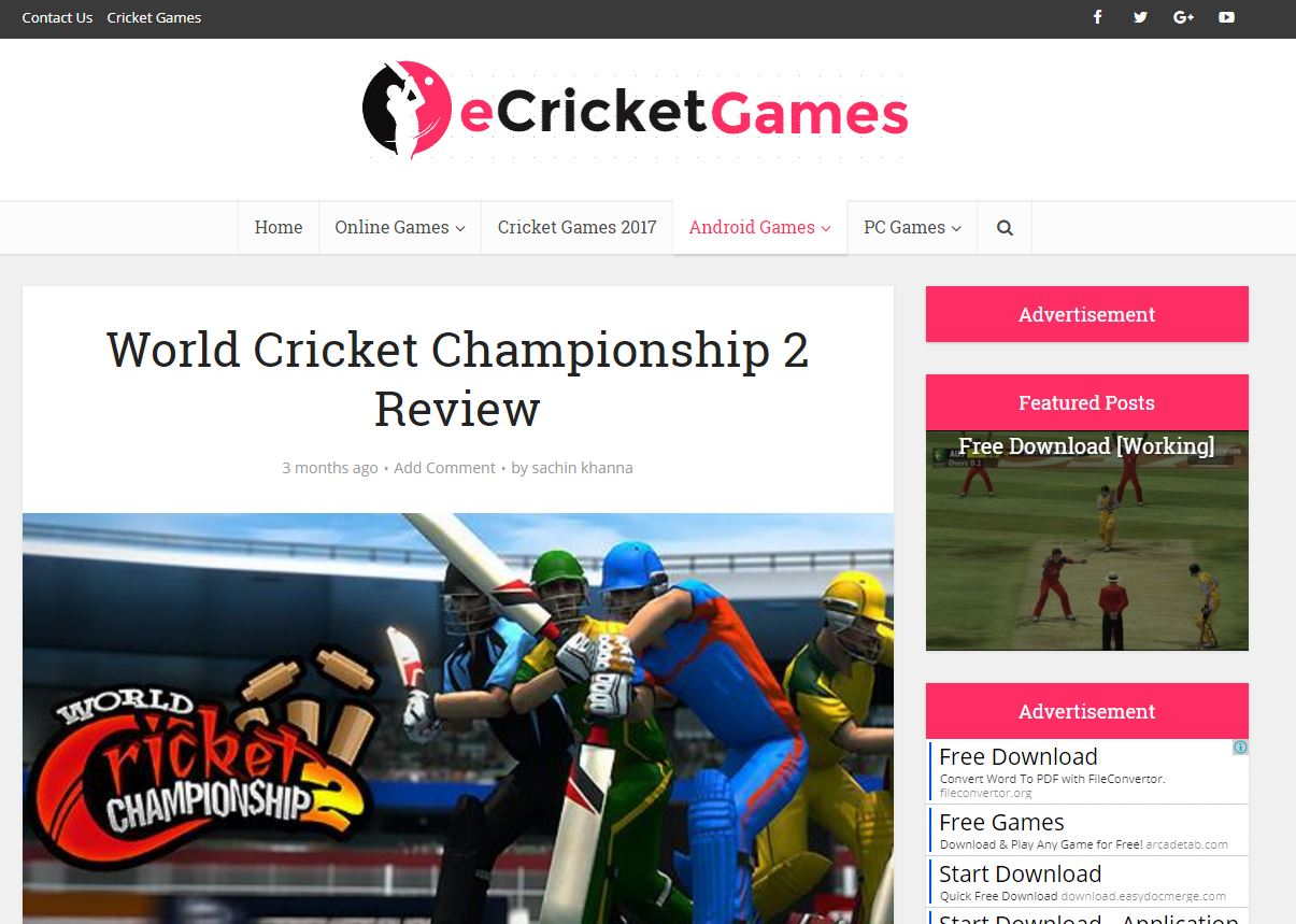 Ecricket review